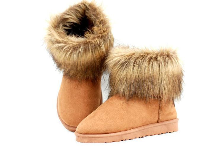 2013 New Arrival Fashion Womens Girl Winter Warm Ankle Snow Boots Shoes Soft Sole Lady Faux Fur Free Shipping   #L035570-in Shoes on Aliexpress.com
