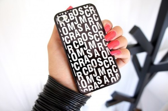 black and white black jewels phone case iphone marc jacobs white gorgeous chic