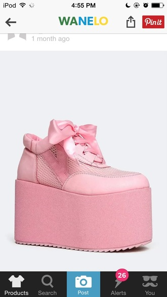 shoes pink tumblr grunge platform shoes sneakers pastel goth pastel grunge lolita kawaii