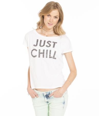 Just Chill Hi-Lo Graphic T -