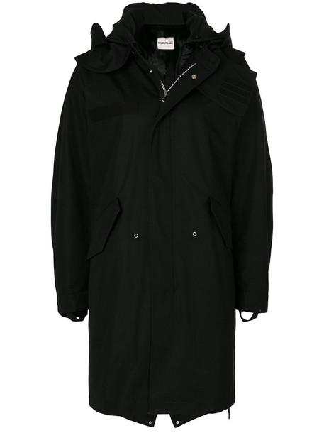 Helmut Lang coat fur women cotton black