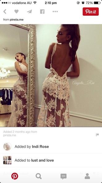 dress white lace formal