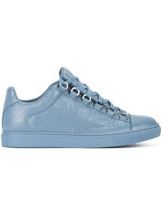 women classic sneakers leather blue shoes