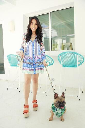 hautepinkpretty blogger dress shoes jewels summer dress summer outfits wedges