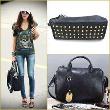 Black Shoulder Bag With Studded Bottom 92