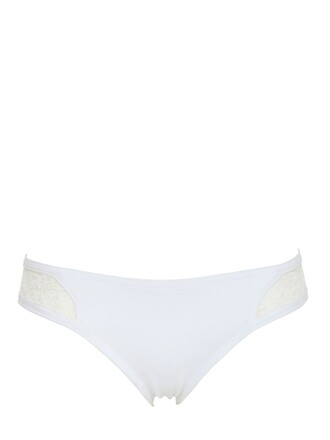 embroidered neoprene white underwear