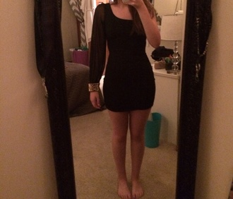 black dress one shoulder gold studded bodycon dress one sleeve dress one shoulder dresses