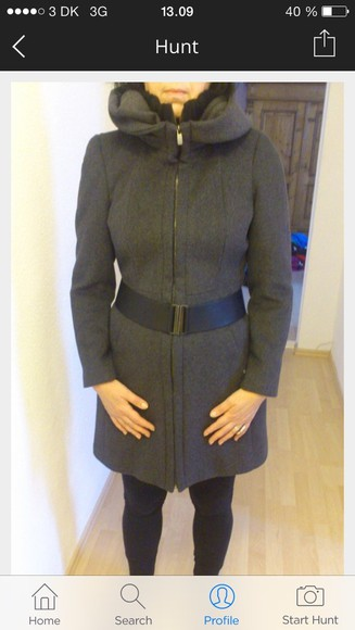 vintage coat grey jacket winter wool coat