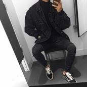 jacket,black,jeans