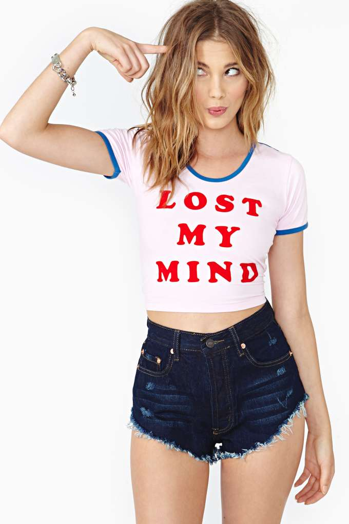 Lazy Oaf Mindfull Crop Top in  Clothes at Nasty Gal