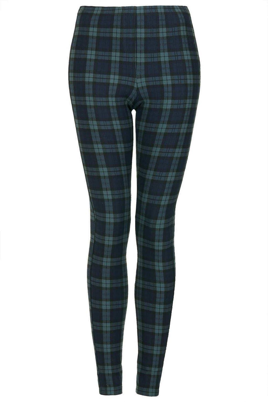 Topshop Black Watch Green Tartan Leggings: Amazon.co.uk: Clothing