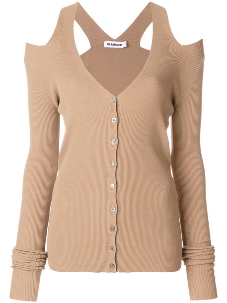 Jil Sander cardigan cardigan women cold brown sweater