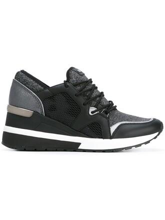 women sneakers lace black neoprene shoes