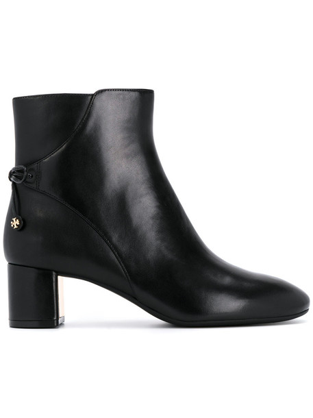 Tory Burch women ankle boots leather black shoes