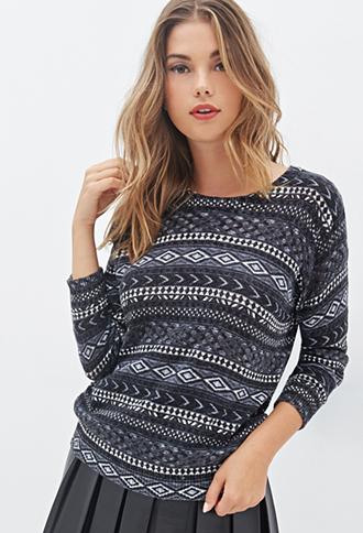 pattern patterned sweater winter sweater fall sweater fall outfits geometric navy grey sweatpants
