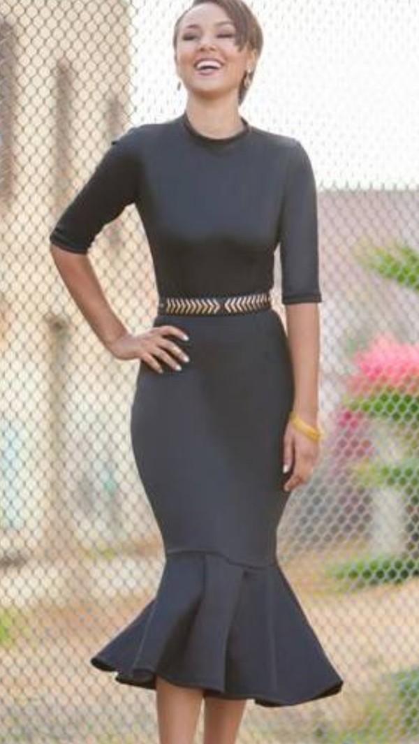 dress black midi dress