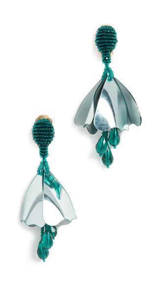 earrings aqua jewels