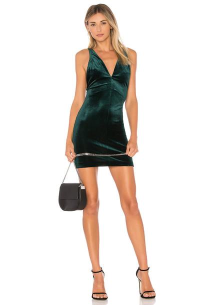 Amanda Uprichard dress velvet green