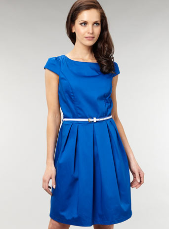 Cobalt 50s structured dress