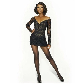dress black brandy roxie