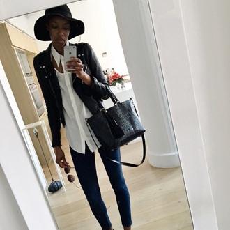 bag tassel leather purse chic crocodile black minimalist black bag