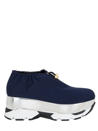 drawstring sneakers neoprene silver navy shoes
