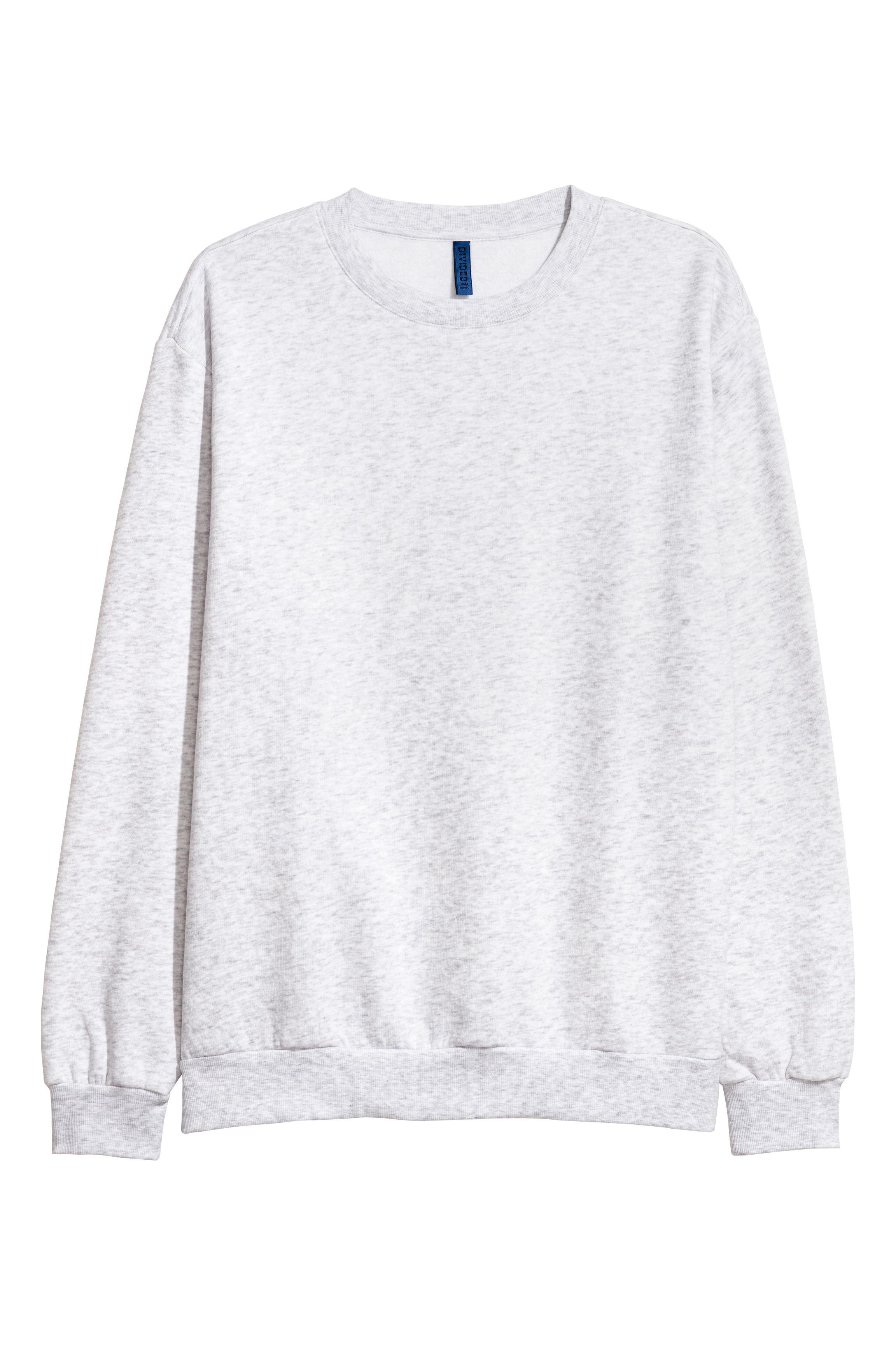 Oversized Sweatshirt - Gray melange - Men | H&M US