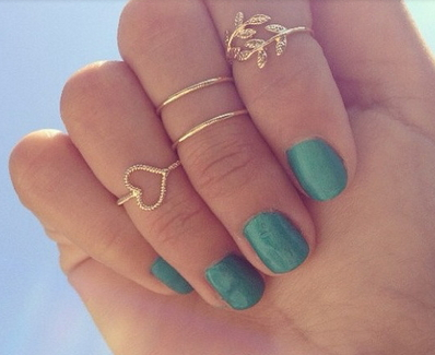 Midi 4pcs Set Stacking Rings - Juicy Wardrobe