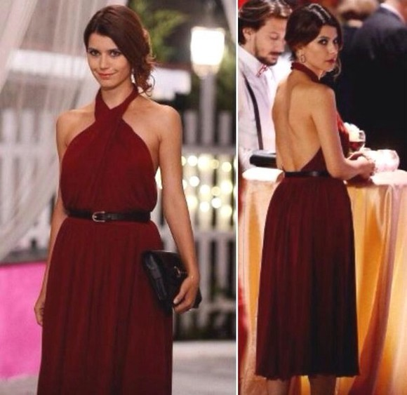 bordeaux dress celebrity dresses celebrity show backless openback celebrity, dresses, dress, red, openback, color