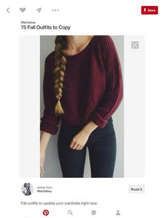 sweater burgundy maroon/burgundy knitted sweater