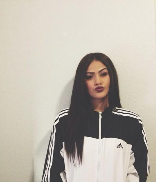 make-up adidas adidas sweater adidas jacket black and white windbreaker jacket coat black and white windbreaker adidas jacket black white adidas originals urban stripes adidas windbreaker adidas track jacket