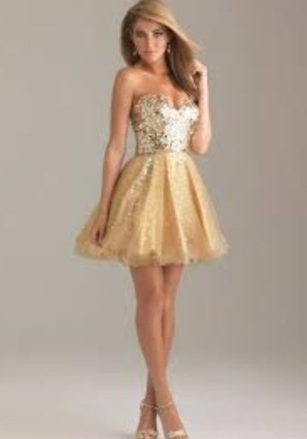 yellow short dress sparkly dress