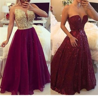 dress red dress prom dress prom gown wine red