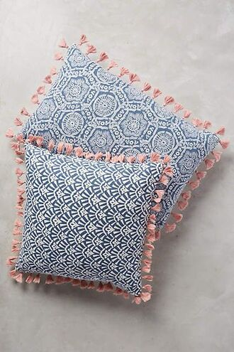 home accessory decorative cushions pillow tassel tassel cushions blue pillow