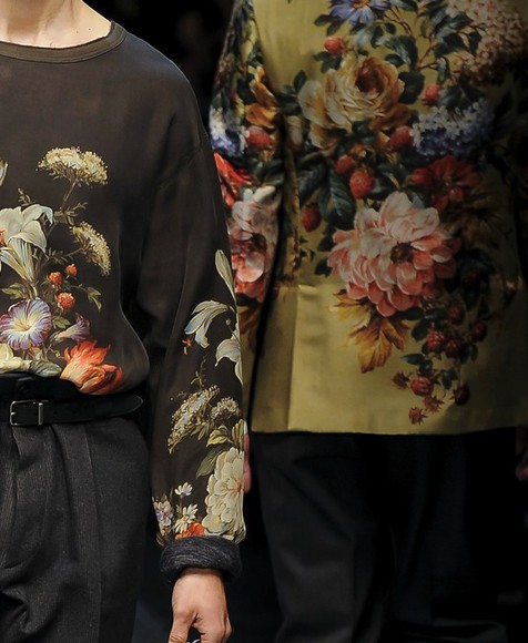black sweater clothes floral yellow