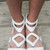 Take It Up A Notch White Vegan Leather Flat Gladiator Sandals – Amazing Lace