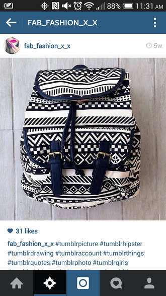 bag aztec aztec bag aztec bags aztec black and white black and white bag black and white drawstring backpack