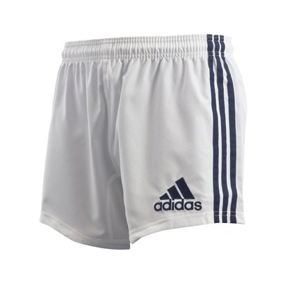 adidas Teamwear 3 Stripe Shorts White/Navy | rugbystore