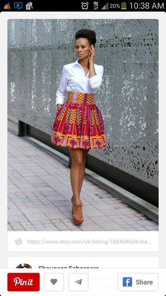 skirt african print