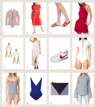 style me grasie blogger swimwear skirt shoes romper jewels dress summer summer outfits red dress sneakers one piece swimsuit