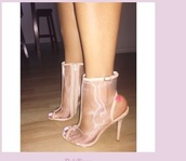 shoes,nude,nude high heels,mesh,slingback pumps,open back,open toes
