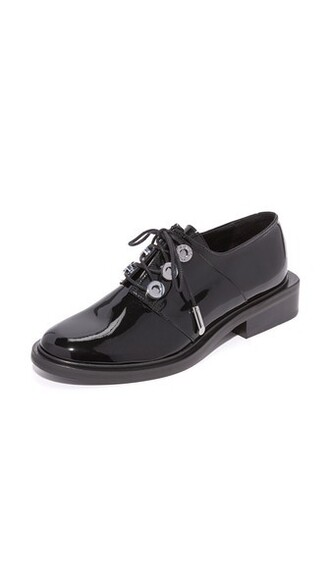 noir oxfords lace shoes