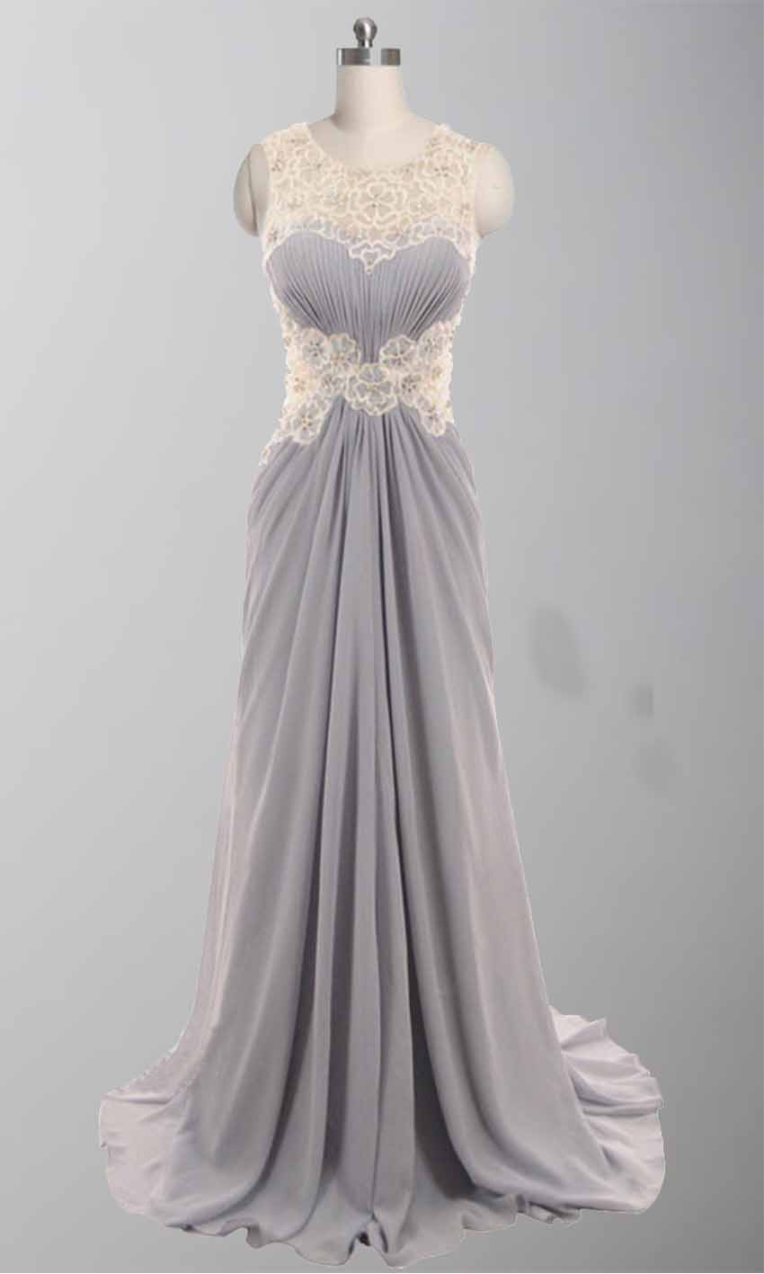 Round Gray Lace Flower Ruching Long Formal Dresses KSP304 [KSP304] - £102.00 : Cheap Prom Dresses Uk, Bridesmaid Dresses, 2014 Prom & Evening Dresses, Look for cheap elegant prom dresses 2014, cocktail gowns, or dresses for special occasions? kissprom.co.uk offers various bridesmaid dresses, evening dress, free shipping to UK etc.