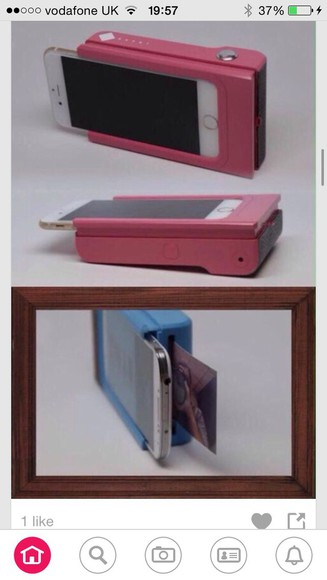 print phone case pink printer phone blue want want want!