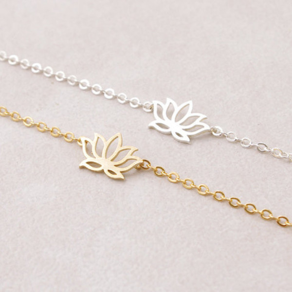 jewels accessories bikini luxe jewelry bracelets dainty bracelet gold lotus bracelet jewelry lotus bracelet lotus flower bracelet silver lotus bracelet zen bikiniluxe