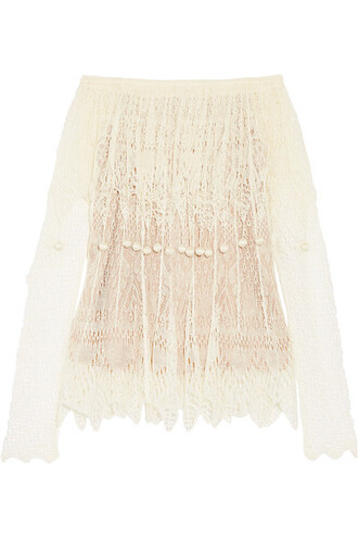 top lace top embellished lace silk