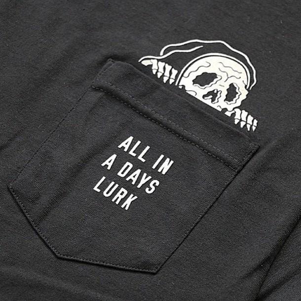 shirt hipster grunge alternative punk skull skeleton t-shirt graphic tee black t-shirt mikey $harks