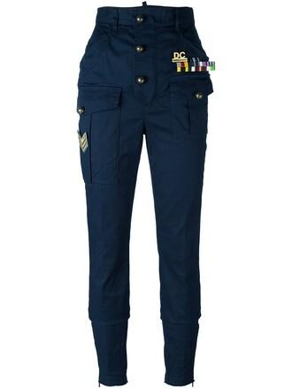 arrow women spandex cotton blue pants