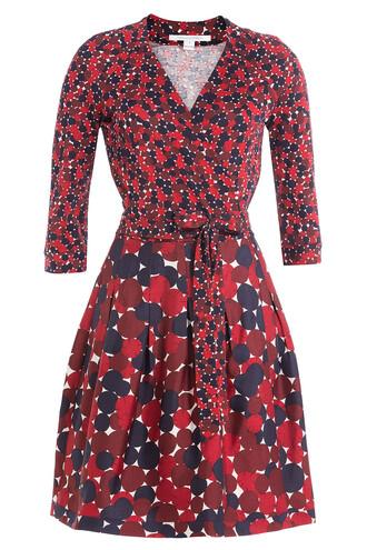 dress wrap dress silk wool multicolor