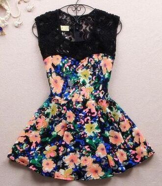 dress black lace black lace sweetheart neckline sweetheart neckline flowers floral floral dress